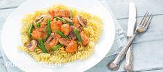 pasta met kip en rode pesto