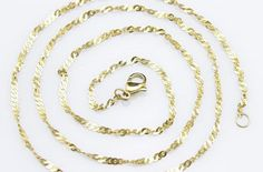 20pcs 26inch 2mm 316L stainless steel golden color by aliyafang, $69.00