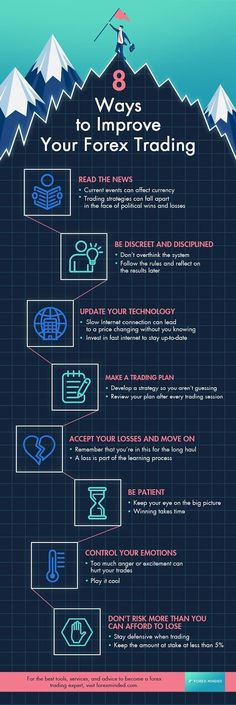 Forex Trading Tips   Easy Ways To Improve FX Trading [INFOGRAPHIC] Forex trading takes experience, strategy, and forex trading education to become successful in the currency market. With these forex trading tips, you can become an expert trader and achiev