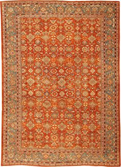"""Antique Sultanabad Persian Rugs 41291 Main Image - By Nazmiyal 10'6"""" x 15'3"""""""