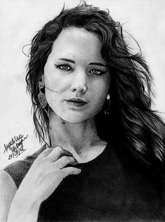 Jennifer Lawrence Drawing. Its really good, but I feel as if her eyes are a little off...