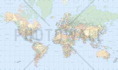 World Map - Fototapeter