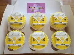 Yellow VW Bus cupcakes