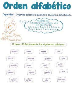 Razonamiento Verbal  2º Grado de Educación Primaria  1. Orden Alfabético  Capacidad:  Organiza palabras siguiendo la secuencia del alfabet...