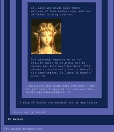 THIS POST. As canon ( and adorable) as Link and Ilia are, these guys will ALWAYS be my babies AND I REGRET NOTHING