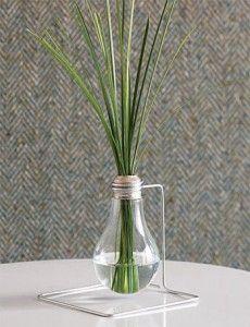 recycled light bulb mini vase