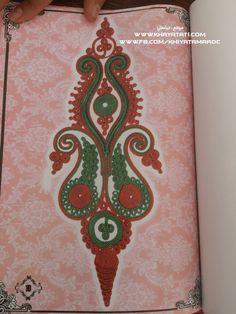 حصريا على موقع خياطتي فقط:رشمات زواق المعلم باليد  للجلابة الذي يكون في الوسط مكان العقاد