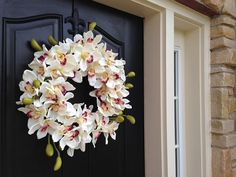 SUMMER Orchid Wreath Summer Orchids Year Round by twoinspireyou