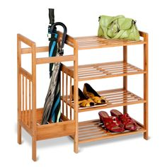 HONG5 Honey-Can-Do 4-Tier Bamboo Entryway Organizer: Amazon.ca: Home & Kitchen- find a way to make this