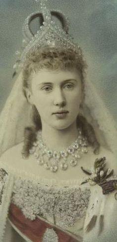 "Grand Duke Constantine/Konstantin Constantinovich/Konstantinovich ""KR"" of Russia & Princess Elisabeth ""Mavra"" of Saxe-Altenburg   {1884}"