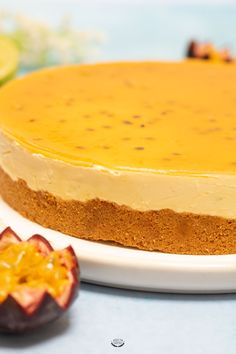 No-bake passion mango cheesecake - mango cheesecake without baking - Tart Recipes, Cookie Recipes, Dessert Recipes, Mango Cheesecake, Cheesecake Recipes, Cheesecakes, Tiramisu, Savoury Cake, Mini Cakes