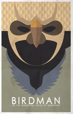 Birdman (2014) ~ Minimal Movie Poster by Gustavo Rodrigues #amusementphile