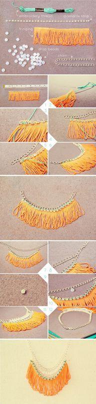 j crew necklace DIY