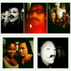 We're having a mustache party in the studio @kcrw for my dude @MarioCotto's 5 Year Ann. Show! @shawniece @tarynolsen @validaa & crew #kcrw #MarioCottoTurns5