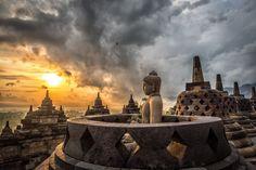 Borobudur Sunrise by Dale Johnson on 500px