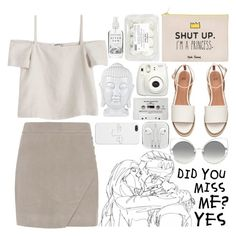 // white love by indierock-isbae on Polyvore featuring Shaina Mote, Michelle Mason, Marc Jacobs, Yeah Bunny, Fujifilm, Herbivore and CASSETTE