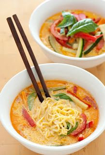 Noodle Laksa Veggie Soup - Yummi Recipes