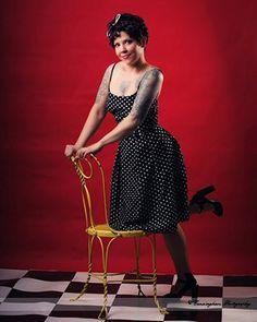 Polka dot rockabilly dress by RavenBombshell on Etsy, $99.00    Photo by Stephanie Cunningham