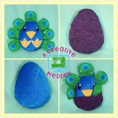 Peekaboo Peacock, In the Hoop Stuffed Softie - Reversible Folds Into An Egg - Products Embroidery Designs, Sewing Projects, Projects To Try, Pokemon Funny, Softies, Plushies, Baby Crafts, Step By Step Instructions, All Design