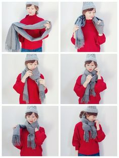 Next Previous Girl Wearing Clothes Mode Outfits, Trendy Outfits, Fashion Outfits, Cheap Outfits, Style Fashion, Classic Fashion, Fashion Styles, Classic Style, Ways To Wear A Scarf