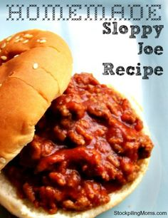 Just picture reference to what i'm making, use personal reference. We love this Homemade Sloppy Joe recipe. This is a must pin!