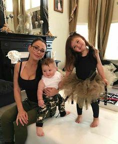 Jenni and her kids Instagram Posts, Jwoww Jersey Shore, Jenni Farley, Snooki And Jwoww, Celebrity Kids, Cute Celebrities, Happy Mothers Day, Fangirl