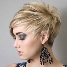 Short hairstyles for round faces  The short styles now are made to make older women look younger. Great for round faces!