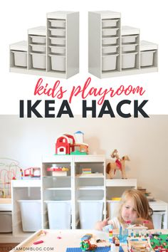 Ikea Hack Kids Playroom Trofast - How to minimize toys and declutter kids toys