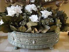 Preserved SalalHydrangea Gardenia Riceflower by donnahubbard, $875.00