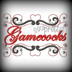 Gamecocks Pride Embroidery Design by justsewpretty on Etsy