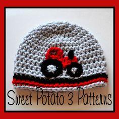 PATTERN Tractor Hat Crochet by SweetPotato3Patterns on Etsy, $3.75