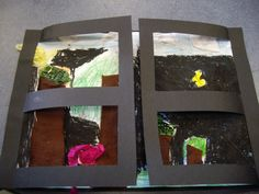 Jeannie Baker - window art and craft after 'reading' the story