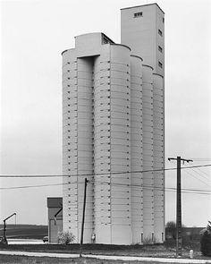 Bernd and Hilla Becher - Grain Elevator, Rethel, France - Artwork details at artnet