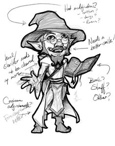 Rough Sketch for a Client Image Dungeons And Dragons, Gnomes, Sketch, Magic, Art, Sketch Drawing, Art Background, Kunst, Sketches