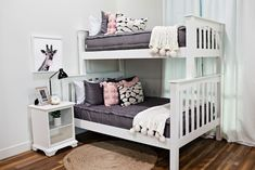 Styled for Bunk Beds – Beddy's Zip Up Bedding, Grey Bedding, Grey Girls Rooms, Girls Bedroom, Bedroom Ideas, Make Your Bed, How To Make Bed, Kid Beds, Bunk Beds