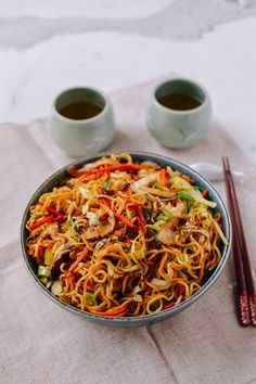 Chicken Yakisoba is a popular Japanese noodle stir-fry easy to make at home. In addition to yakisoba noodles, our recipe also has tons of fresh vegetables! Asian Recipes, Healthy Recipes, Ethnic Recipes, Healthy Food, Yakisoba Recipe, Chicken Yakisoba, Stir Fry Yakisoba Noodles, Japanese Dishes, Japanese Food