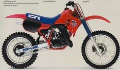 1985 Honda CR125 Motocrosser - Vintage Dirt Bikes. I have one of these in a box in the shop to put together!