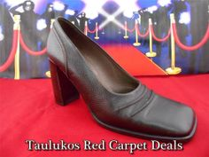 Womens shoes BALLY High-end Brown LEATHER Chunky Heel Pumps ITALY US 7.5 EUR 5 M #Bally #PumpsClassics #Italian #leather