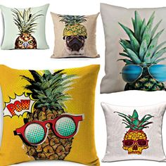 It's a pineapple invasion!! Call it Karma Emporium on Facebook has over 2 dozen pineapple pillows. I think I am in heaven!!