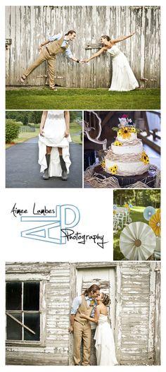 One of my favorite summer weddings!  www.AimeeLambes.com    diy wedding barn wedding dress wedding cake
