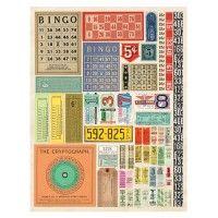 Vintage Number Ephemera 8.5 x 11 Collage Sheet