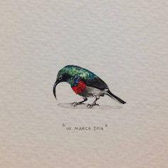 Lorraine Loots - 10 March 2014, day 69 ( mini. mini painting )