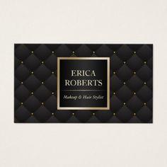#makeupartist #businesscards - #Makeup Artist Hair Stylist Modern Black & Gold Business Card