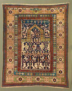 Konakend prayer rug, Caucasus, mid-19th century. Christopher Emmet collection