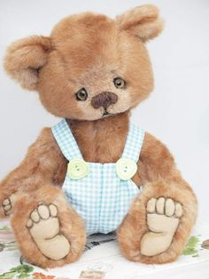 Manufactured Artist Realistic Charlie Bears Mohair Isabelle Lee Lilac Purple White 2014 Ltd Ed #512 Year Bear