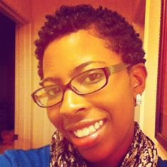 Wash and go style on short natural hair