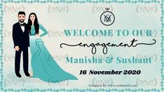 Loved creating this Engagement Poster for our beautiful couple Manisha & Sushant💙💙 . Wedding posters , Video Invites, GIF , PDF Invites , Wedding Websites - we're open to all these wedding E- invite formats. To buy, DM us or 👇 WhatsApp: +919878949765, +918699033138 📧: hello@wishnwed.com Website: www.wishnwed.com #wishnwed #wishnwedinvites #engagement #engagementinvites #weddingposters #engagementinvitation #einvite #einvitation #savethedate #weddinginvitations2020 Engagement Invitations, Elegant Wedding Invitations, Wedding Posters, 2020 Design, Wedding Website, Beautiful Couple, Wish, Pdf, Photo And Video