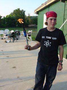 A young Zack Merrick