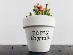 + Party Thyme 4 hand painted terra cotta pot + Great addition to your home decor… + Party Thyme 4 … Small Cactus Plants, Potted Plants, Indoor Plants, Shade Plants, Cactus Pot, Cactus Flower, Southwestern Home Decor, Decorated Flower Pots, Pun Gifts