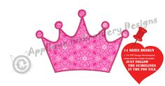 """Thanks for the kind words! ★★★★★ """"Perfect! It added that last little touch I was needing."""" Rachel S. http://etsy.me/2ATYKJ2 #etsy #supplies #anniversary #quilting #applique #machineembroidery #embroiderydesign #crown #princesscrown #crownapplique"""